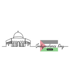 Palestine independence day background vector