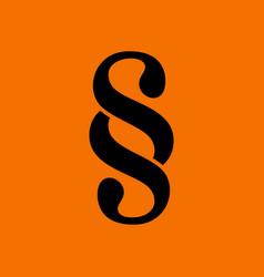 paragraph symbol icon vector image