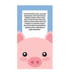 pig head book cover design vector image