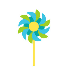 Pinwheel garden paper windmill toy icon vector