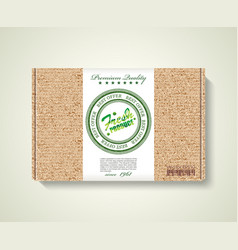 premium quality natural product label on pack box vector image