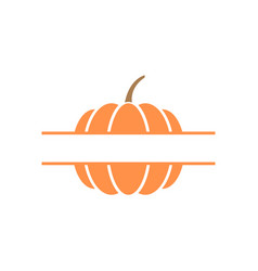 pumpkin monogram design template isolated vector image