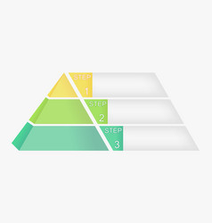 pyramid chart with four elements with numbers and vector image