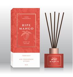 Ripe mango home fragrance sticks abstract vector