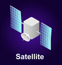 satellite icon isometric style vector image