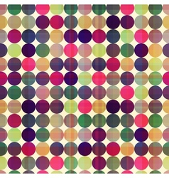 seamless circles background texture vector image vector image