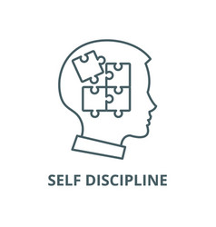 Self discipline line icon linear concept vector