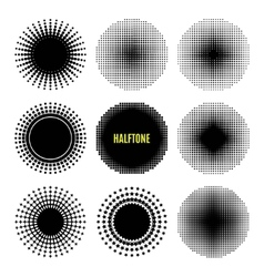 Set Halftone isolation element design vector image