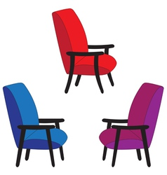Set of recliners vector image