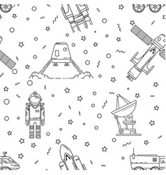 Space memphis seamless pattern vector