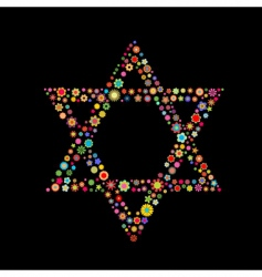 star of David shape vector image