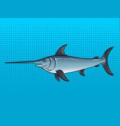 swordfish pop art vector image