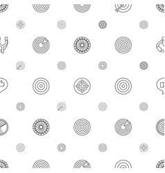 Target icons pattern seamless white background vector