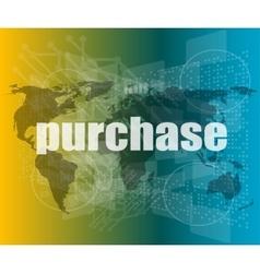 Trading word on digital screen global vector