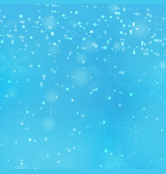 transparent falling snowflakes isolated on vector image
