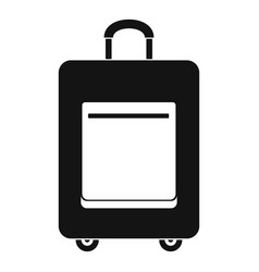trip bag icon simple style vector image