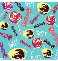 Vintage Confectionery Pattern Background vector