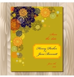 Winter snowflakes design wedding card Wedding vector