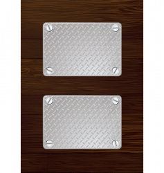 wood metal plate vector image