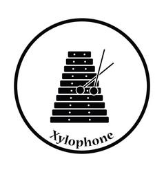 Xylophone icon vector