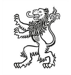 LION Heraldic Stylized 01 vector image