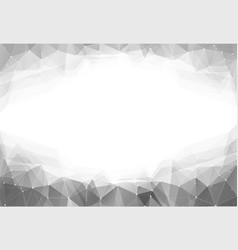 monochrome triangle vector image vector image