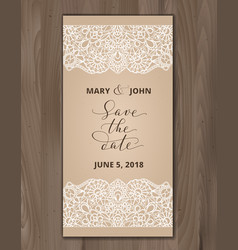 save the date card wedding invitation template vector image
