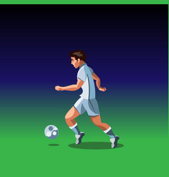 soccer player with a graphic trail vector image vector image