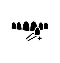 teeth false icon black sign vector image