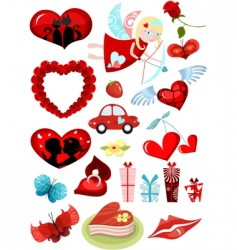 valentines design elements set vector image vector image