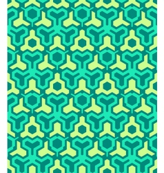 abstract geometric yellow green seamless pattern vector image vector image