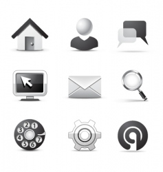 web icons bw series vector image vector image