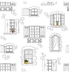 windows seamless pattern vector image
