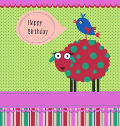 Birthday greeting template vector image