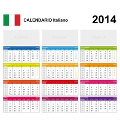 Calendar 2014 Italy Type 19 vector image
