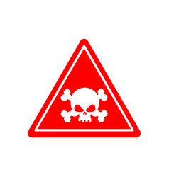 Danger poison sign red attention toxic hazard vector