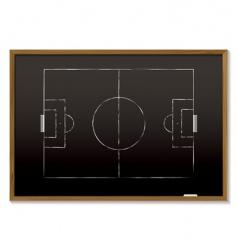 football blackboard vector image vector image