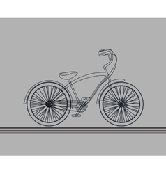 Hipsters bicycle sketch vector image