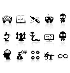 nerds icon set vector image vector image