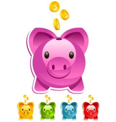Shiny Piggy Bank vector image vector image