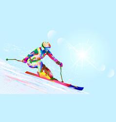 Alpine skier vector