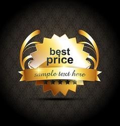 best price label vector image vector image