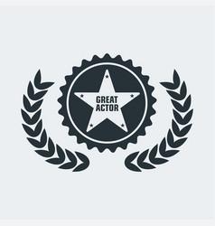 cinema award actor vector image