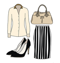Female office clothes vector image