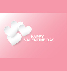 hearts paper cut stylepink vector image vector image