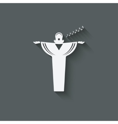 opera singer symbol vector image