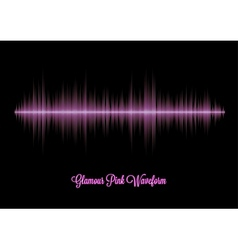 Pink glamour music waveform with sharp peaks vector image