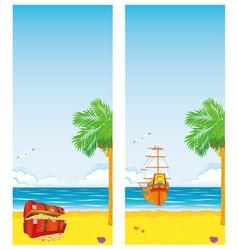sea and islands vector image vector image