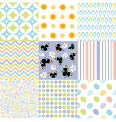 Seamless pattern easter set vector image