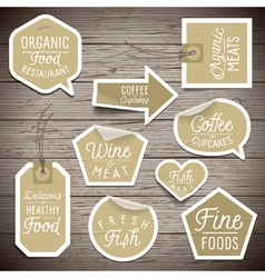 slogans stickers food organic vector image vector image